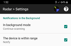 Enable scanning in the background